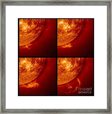 Solar Prominence Sequence, Soho Image Framed Print by Solar & Heliospheric Observatory consortium (ESA & NASA)
