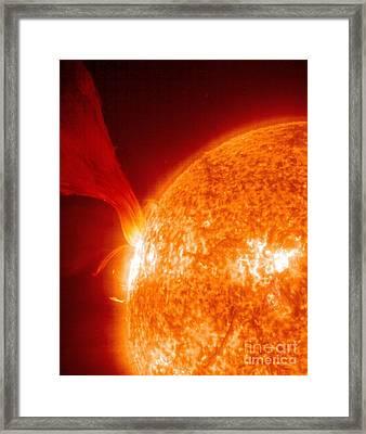 Solar Prominence, Soho Image Framed Print by Solar & Heliospheric Observatory consortium (ESA & NASA)