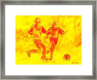 Solar Soccer Framed Print by Stephen Younts
