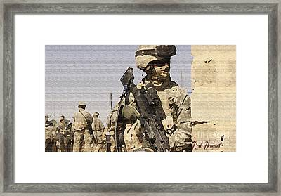 Soldiers. Framed Print by Red Deviant