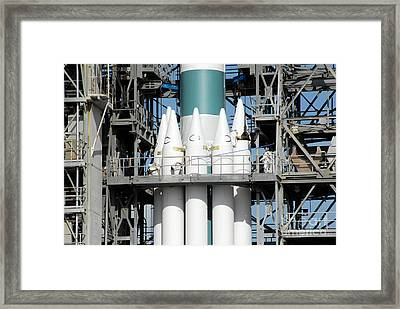 Solid Rocket Boosters Are Attached Framed Print by Stocktrek Images