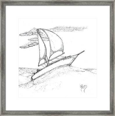 Solitude - Sketch Framed Print by Robert Meszaros