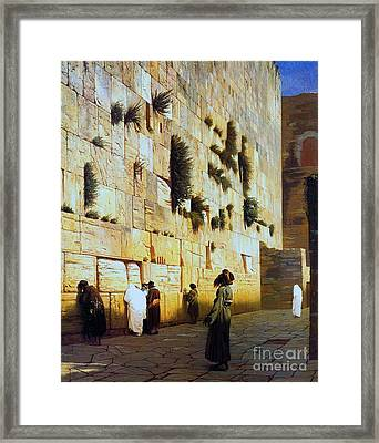 Solomon's Wall  Jerusalem Framed Print by Pg Reproductions