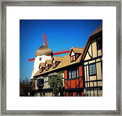 Solvang California Framed Print by Susanne Van Hulst