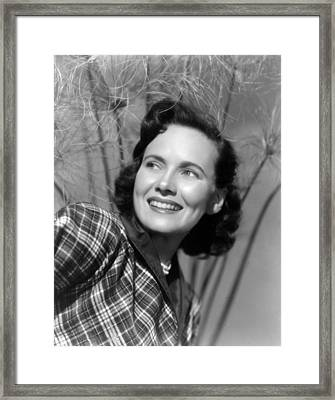 Something To Live For, Teresa Wright Framed Print by Everett
