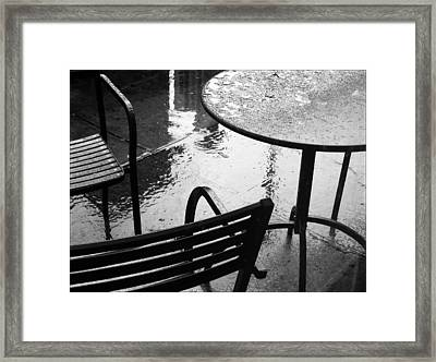 Sometimes It Rains Framed Print by Anne McDonald