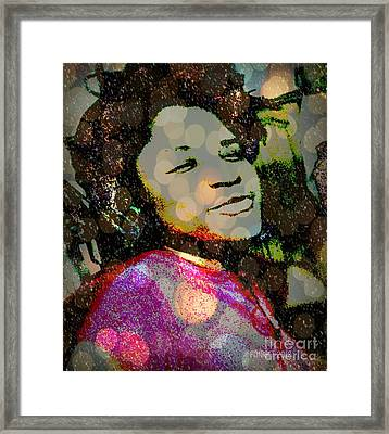 Sometimes When I'm Sad I Dance This Tune - The  Devil Lost The Battle Framed Print by Fania Simon