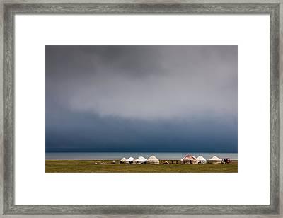 Son-kul Lake Framed Print by Konstantin Dikovsky