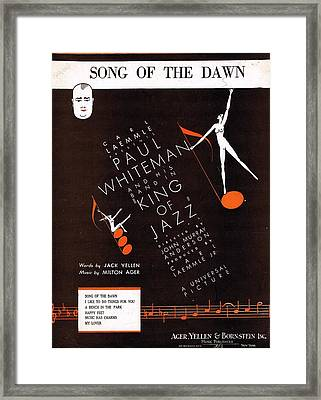 Song Of The Dawn Framed Print by Mel Thompson