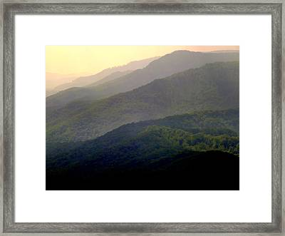 Song Of The Hills Framed Print by Karen Wiles