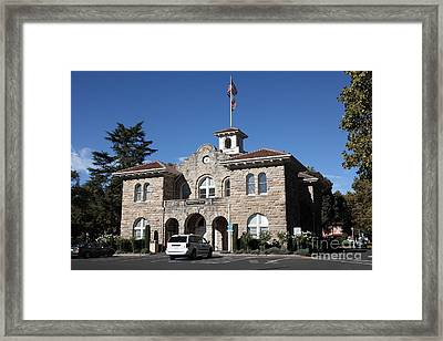 Sonoma City Hall - Downtown Sonoma California - 5d19266 Framed Print by Wingsdomain Art and Photography
