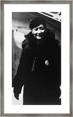 Soong Mei-ling Aka Soong May-ling Framed Print by Everett
