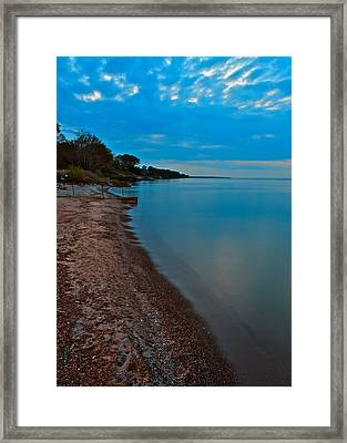 Soothing Shoreline Framed Print by Frozen in Time Fine Art Photography