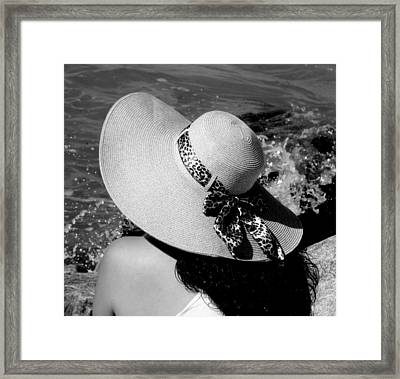 Woman In Hat Framed Print featuring the photograph Sophia by Karen Wiles