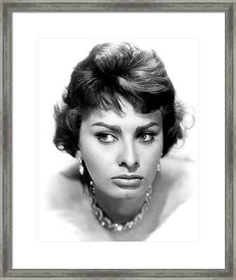 Sophia Loren, Portrait From 1959 Framed Print by Everett