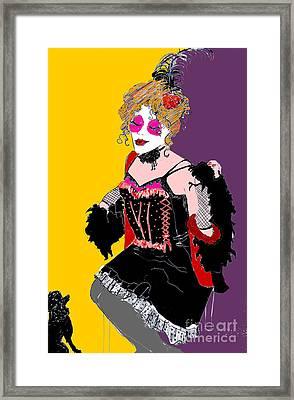 Sophiea And Lu Lu 2 Framed Print by Joanne Claxton
