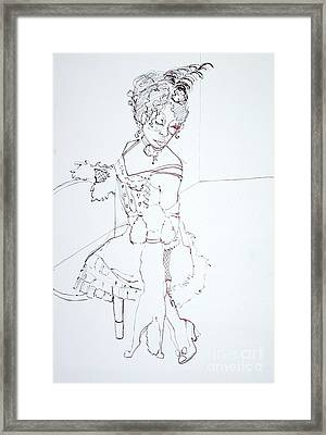 Sophiea And Lu Lu Framed Print by Joanne Claxton