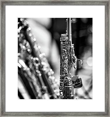 Soprano Saxophone Framed Print by © Rune S. Johnsson