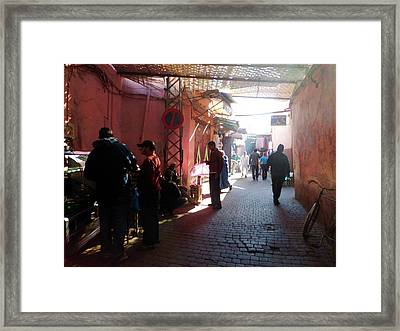 Souk In Marrakesh 01 Framed Print by Miki De Goodaboom