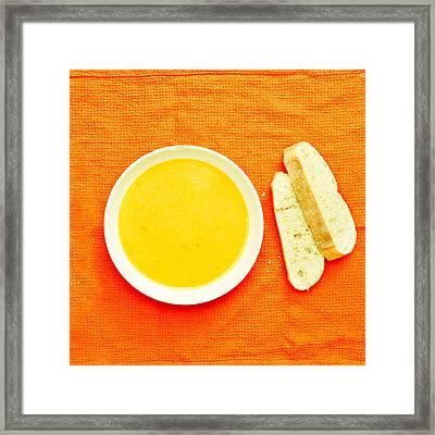 Soup Framed Print by Tom Gowanlock