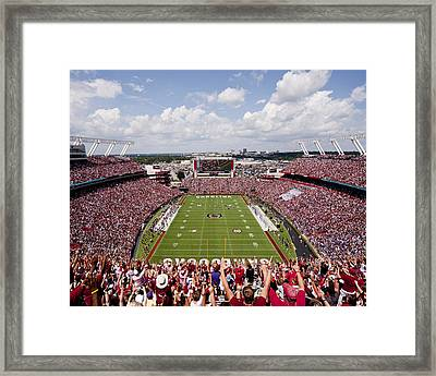 South Carolina View From The Endzone At Williams Brice Stadium Framed Print by Replay Photos
