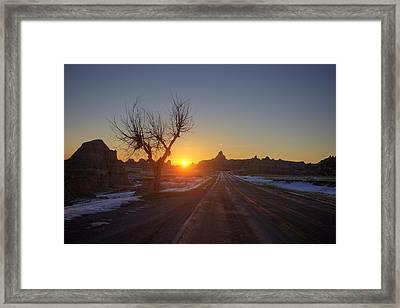 South Dakota Badlands Framed Print by Mark Duffy