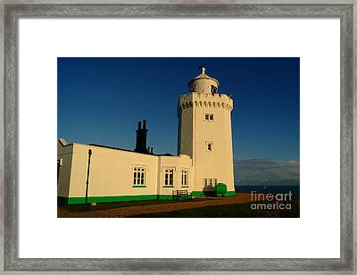 South Foreland Lighthouse Framed Print by Serena Bowles