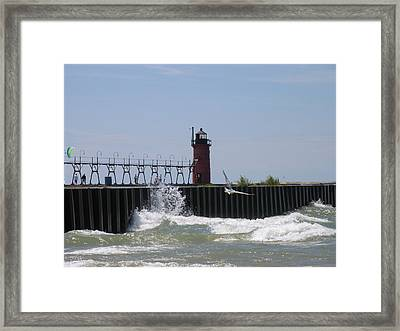 South Haven Lighthouse Framed Print by Matthew Winn