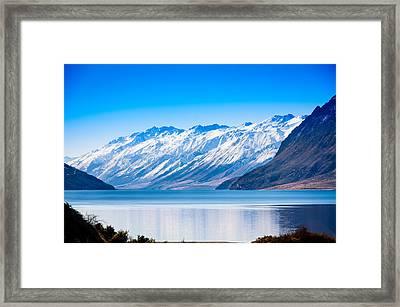 South Island Lake Wanaka New Zealand Framed Print by John White