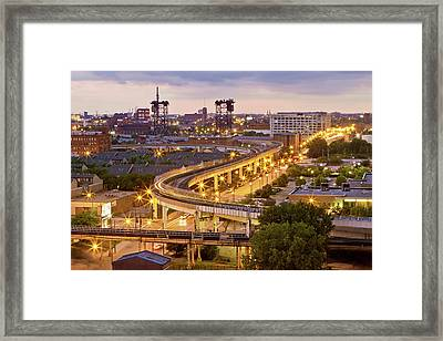 South Loop Long Exposure Framed Print by Delobbo.com