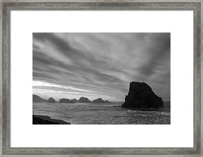 South Oregon Coast Black And White Framed Print by Twenty Two North Photography