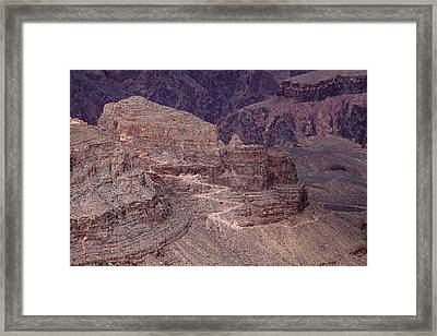 South Rim Trail Framed Print by Viktor Savchenko