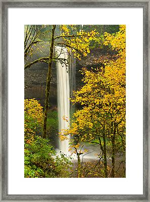 South Silver Falls Framed Print by Alvin Kroon