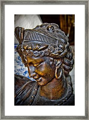 South Street Aphrodite Framed Print by Terry Finegan