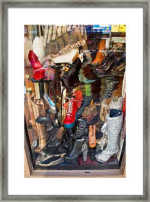 South Street Shoes Framed Print by Terry Finegan