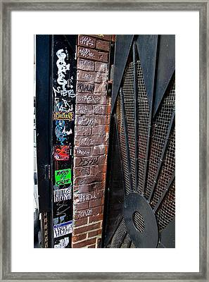 South Street Writin' Framed Print by Terry Finegan