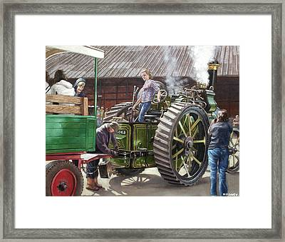 Southampton Bursledon Brickworks Open Day Picture 2 Framed Print by Martin Davey