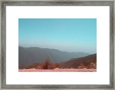 Southern California Mountains 2 Framed Print by Naxart Studio