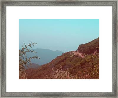 Southern California Mountains Framed Print by Naxart Studio