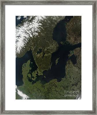 Southern Scandinavia Framed Print by Stocktrek Images