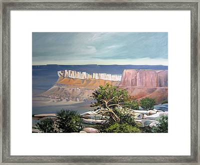 Southern Utah Butte Framed Print by Matthew Chatterley