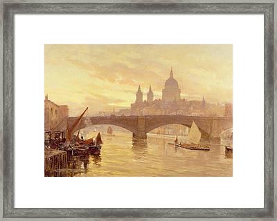 Southwark Bridge Framed Print by Herbert Menzies Marshall