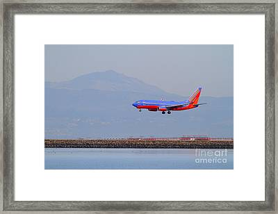 Southwest Airlines Jet Airplane At San Francisco International Airport Sfo . 7d12175 Framed Print by Wingsdomain Art and Photography