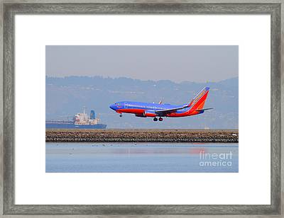 Southwest Airlines Jet Airplane At San Francisco International Airport Sfo . 7d12176 Framed Print by Wingsdomain Art and Photography