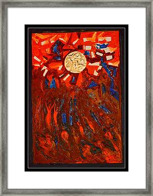 Space Abstraction-1 Framed Print by Anand Swaroop Manchiraju