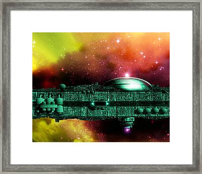 Space Ark Framed Print by Victor Habbick Visions