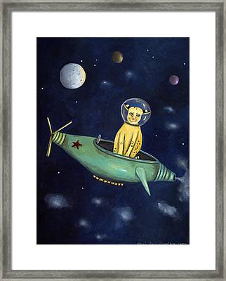 Space Bob Framed Print by Leah Saulnier The Painting Maniac