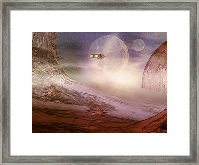 Space Exploration Framed Print by Carol and Mike Werner