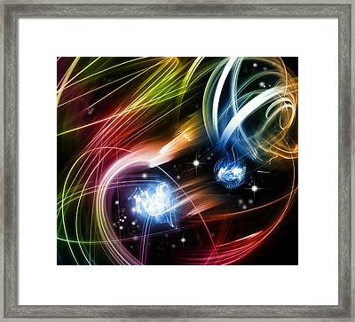 Space Framed Print by Les Cunliffe