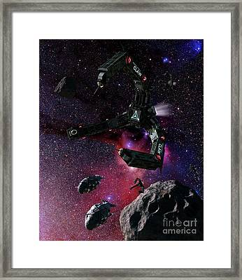 Space Scene Inspired By The Novels Framed Print by Rhys Taylor